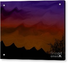 Colors At Dusk Acrylic Print