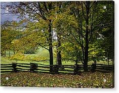 Colors At Mac Rae Field Acrylic Print