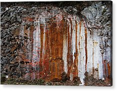 Colors Below A Gold Mine Acrylic Print by Sarah King