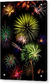 Colors Exploding Over Heard Acrylic Print