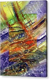 Acrylic Print featuring the painting Colors Interrupting by Allison Ashton