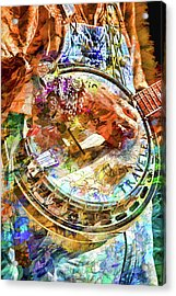 Colors Of A Banjo Busker Acrylic Print