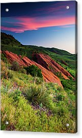 Acrylic Print featuring the photograph Colors Of A Colorado Spring Sunrise by John De Bord