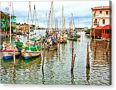 Colors Of Belize - Digital Paint Acrylic Print