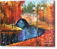 Colors Of Fall Acrylic Print by Viktoriya Sirris