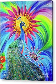 Acrylic Print featuring the painting Colors Of His Splendor by Nancy Cupp