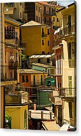 Colors Of Manarola Italy Acrylic Print by Roger Mullenhour