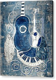 Colors Of Music 6 Acrylic Print by Aliza Souleyeva-Alexander