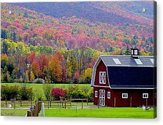 Colors Of New England Acrylic Print by Rick  Monyahan