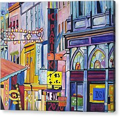 Acrylic Print featuring the painting Colors Of Paris by Patricia Arroyo