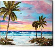 Colors Of Siesta Key Acrylic Print by Lloyd Dobson