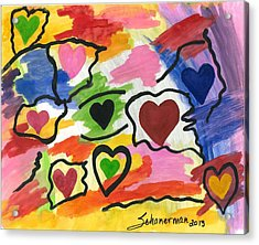 Colors Of The Heart Acrylic Print
