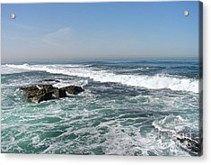 Acrylic Print featuring the photograph Colors Of The Sea by Carol  Bradley