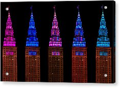 Colors Of The Terminal Tower Acrylic Print