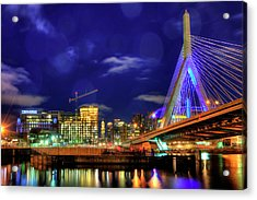 Acrylic Print featuring the photograph Colors Of The Zakim Bridge - Boston, Ma by Joann Vitali