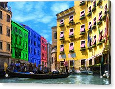 Colors Of Venice Acrylic Print by Jeffrey Kolker