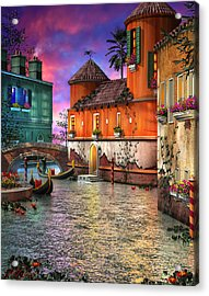 Colors Of Venice Acrylic Print by Joel Payne