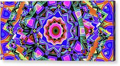 Colors O're Laid Acrylic Print by Ron Bissett