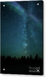 Colors Over The Milky Way Acrylic Print