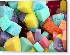 Colors Sponges Acrylic Print