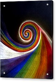 Colorswirl Of Creation Acrylic Print by Ahonu