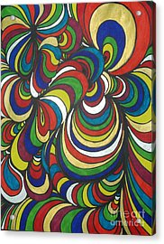 Colorway 2 Acrylic Print by Ramneek Narang