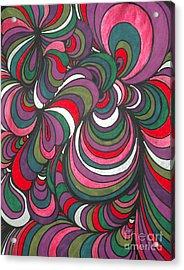 Colorway 5 Acrylic Print by Ramneek Narang