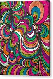 Colorway1 Acrylic Print by Ramneek Narang