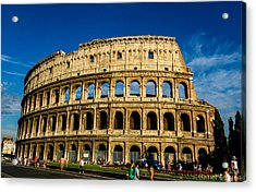 Colosseo Roma Acrylic Print by Rainer Kersten