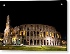 Acrylic Print featuring the photograph Colosseum by Nikos Stavrakas