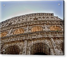 Buildings Acrylic Print featuring the photograph Colosseum by Roberto Alamino