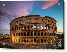 Colosseum Twilight Acrylic Print by Inge Johnsson