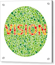 Colour Blindness Test Acrylic Print by David Nicholls