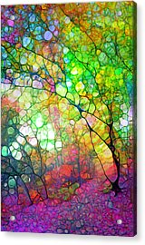 Colour Combustion Acrylic Print
