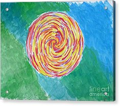 Colour Me Spiral Acrylic Print