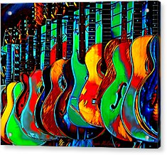 Acrylic Print featuring the digital art Colour Of Music by Pennie McCracken