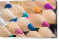 Colour Pencils 3 Acrylic Print