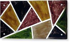Coloured Glass Acrylic Print