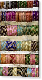 Coloured Glass Indian Bangles Acrylic Print