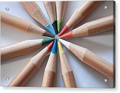 Coloured Pencils 2 Acrylic Print