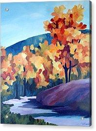 Colourful Autumn Acrylic Print by Carola Ann-Margret Forsberg