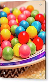 Colourful Bubblegum Candy Balls Acrylic Print