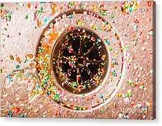 Colourful Confetti In Drain Acrylic Print by Jorgo Photography - Wall Art Gallery