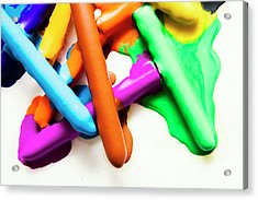 Colourful Crayon Art Acrylic Print by Jorgo Photography - Wall Art Gallery