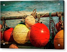 Colourful Fenders In A Distressed State. Acrylic Print by Paul Cullen