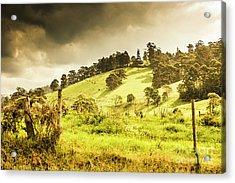 Colourful Fields And Farmyards Acrylic Print