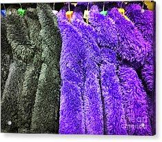 Colourful Fleece Tops Acrylic Print by Tom Gowanlock