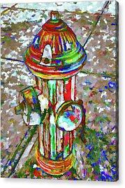 Colourful Hydrant Acrylic Print