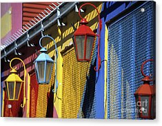 Colourful Lamps La Boca Buenos Aires Acrylic Print