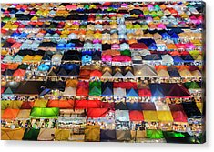 Colourful Night Market Acrylic Print